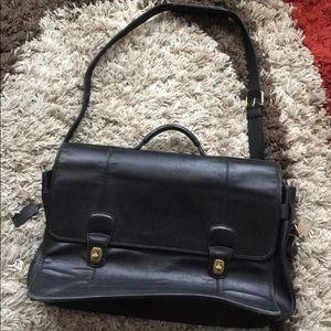 Unisex Leather Coach Messenger crossbody bag